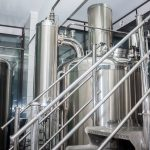 Stainless steel equipment of brewhouse