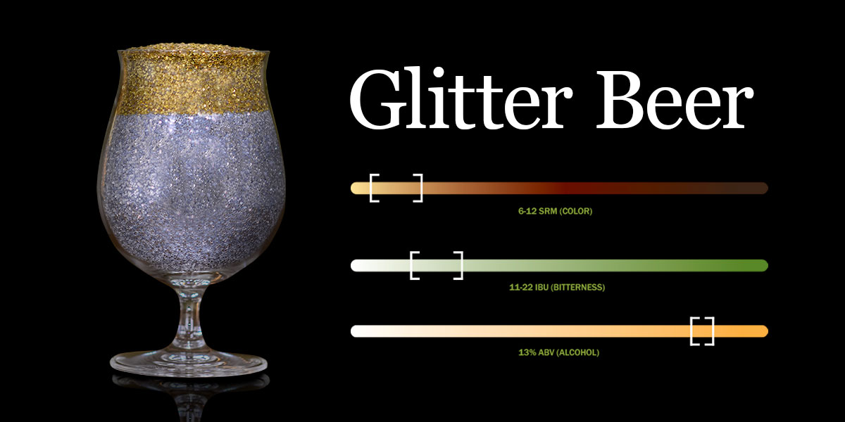 Glitter beer – It's a thing?